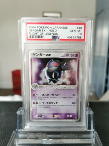PSA 10 Gengar ex Flight of Legends 2004 048082 Holo Pokemon Card Japanese Gem