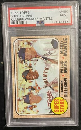 1968 Topps Baseball 490 Superstars Mickey MantleMaysKill PSA 9 Mint