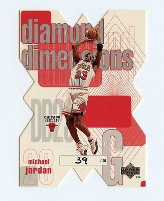 MICHAEL JORDAN 199798 UPPER DECK DIAMOND DIMENSIONS 39100 DD23 BULLS VERY RARE