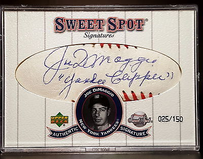 2001 UPPER DECK SWEET SPOT JOE DIMAGGIO YANKEE CLIPPER AUTO SSP SER 25