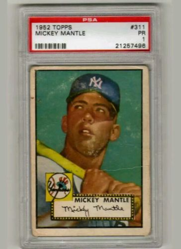 1952 Topps Mickey Mantle 311 PSA 1