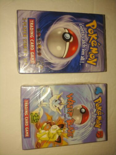 2 Pokemon Card  First Edition 1996 Starter  Water Blast SEALED NOT PERFECT