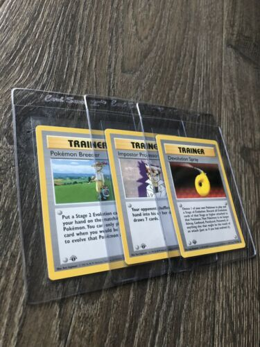 Pokemon Card 1st Edition Shadowless Trainer Pokmon Breeder Devolution Spray Oak