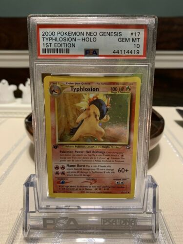 Pokemon PSA 10 GEM MINT 2000 Neo Genesis 1st Edition Typhlosion Card 17111