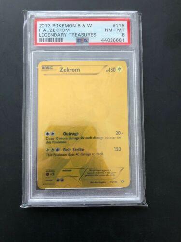 Pokemon Card BW Legendary Treasures PSA 8 Zekrom Gold Secret Rare 115113 NMM