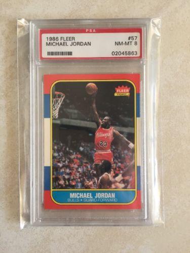 Michael Jordan 198687 Fleer RC 57 PSA 8 NmMt