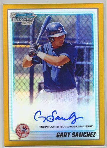 2010 Bowman Chrome Gary Sanchez GOLD Refractor RC Auto Autograph 450 ROOKIE