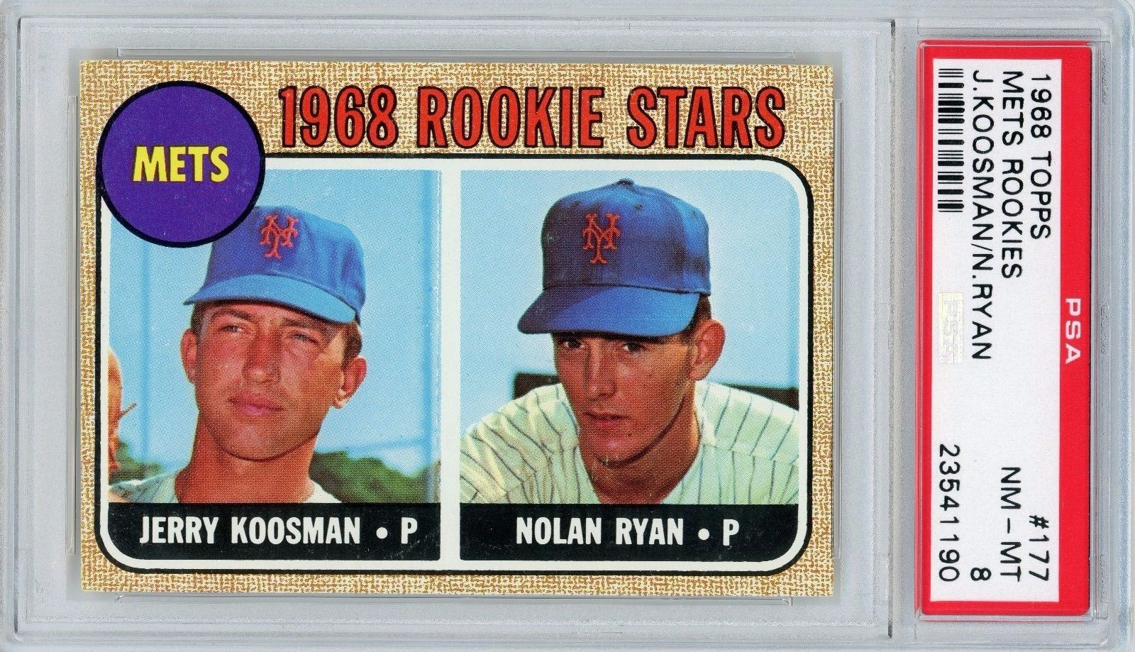 1968 Topps Nolan Ryan 177 RC PSA NMMT 8 Sharp  Centered w 85 Potential