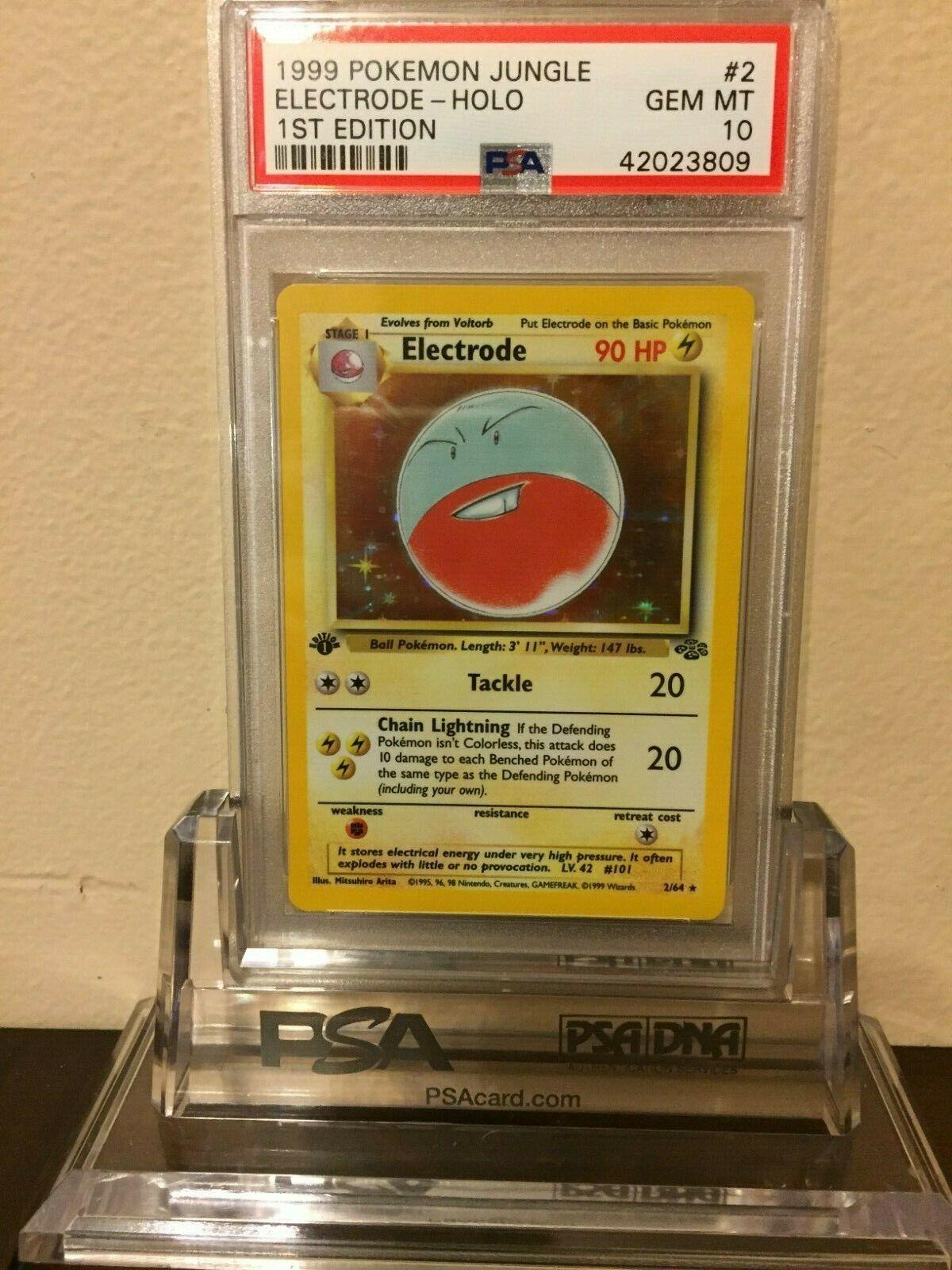 1999 Pokemon Jungle Electrode 1st Edition Holo Card 2 PSA Gem Mint 10