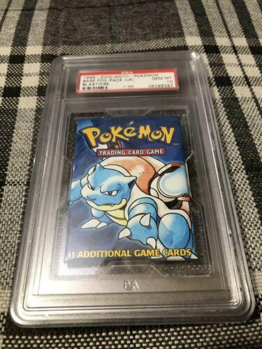 Pokemon Blastoise Booster Pack 4th Print Uk 19992000 Psa 10 Gem Mint