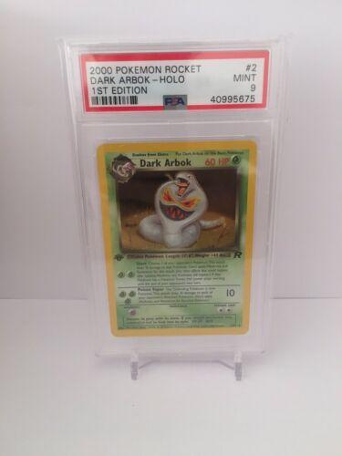 PSA 9 Dark Arbok 282 1st Edition Holo Team Rocket Pokemon Card  Mint