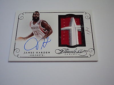 201415 PANINI FLAWLESS BASKETBALL PATCH AUTOGRAPH JAMES HARDEN  1 OF 1