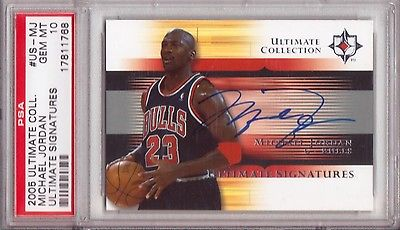 2005 Ultimate Collection Michael Jordan PSA 10 Auto Autograph GEM Mint Signature