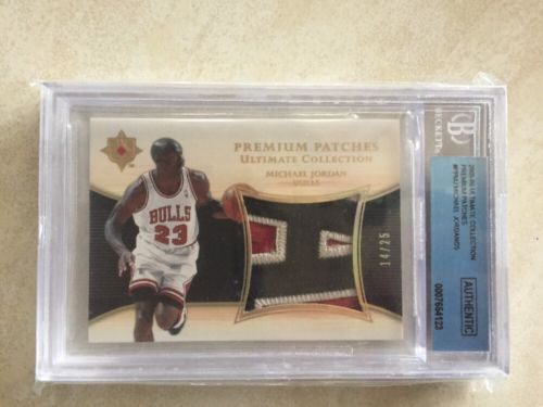 Michael Jordan Upper Deck Ultimate Collection Premium Patches A Letter Patch 25