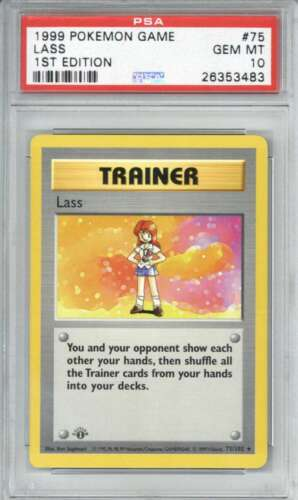 Lass 1999 1st edition First 75 Pokemon Card PSA 10