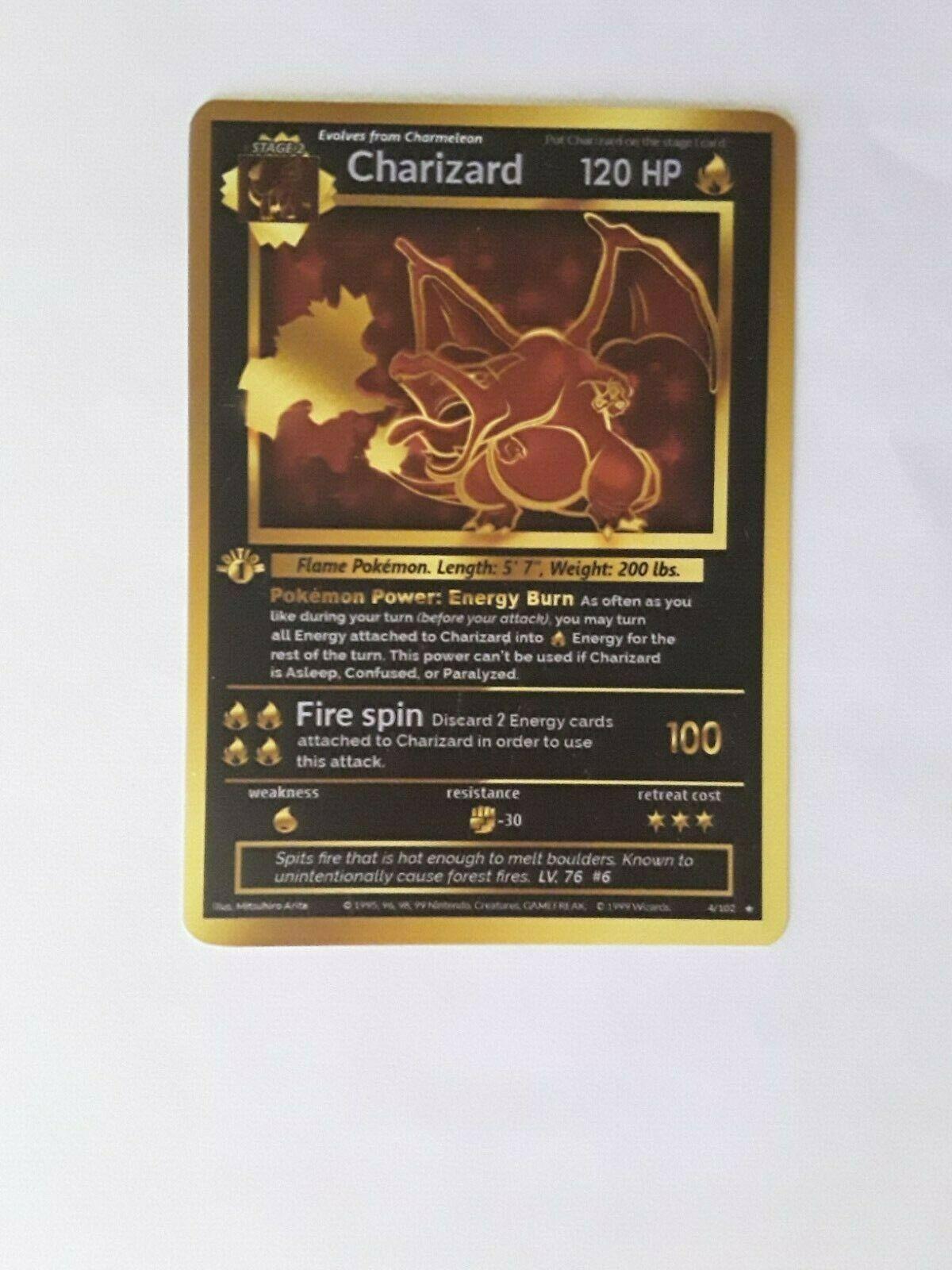 Pokemon card Charizard 1st edition