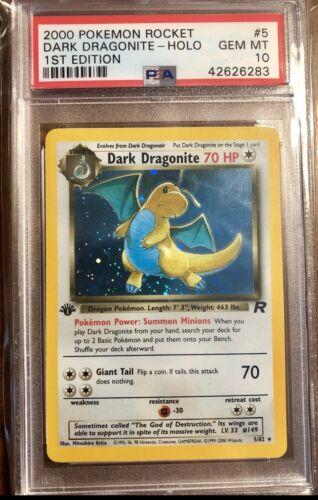 2000 Dark Dragonite Holo 1st Edition Pokemon Card Graded PSA 10 Gem Mint Low Pop