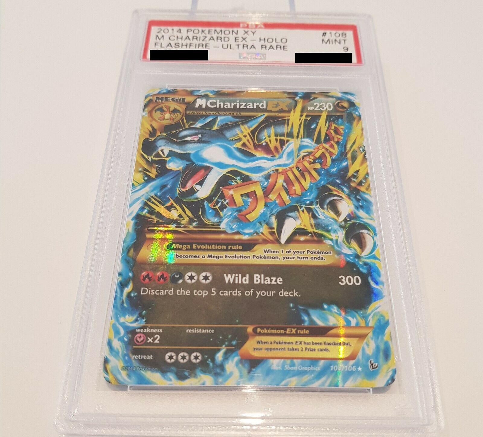 Pokemon Karte M Charizard EX PSA 9 Mint Ultra Rare 108106 XY03 Glurak