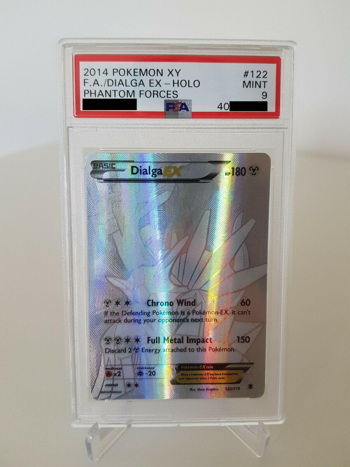 Pokemon Karte Dialga EX PSA 9 Mint 122119 XY04 Phantomkrfte Secret Silver