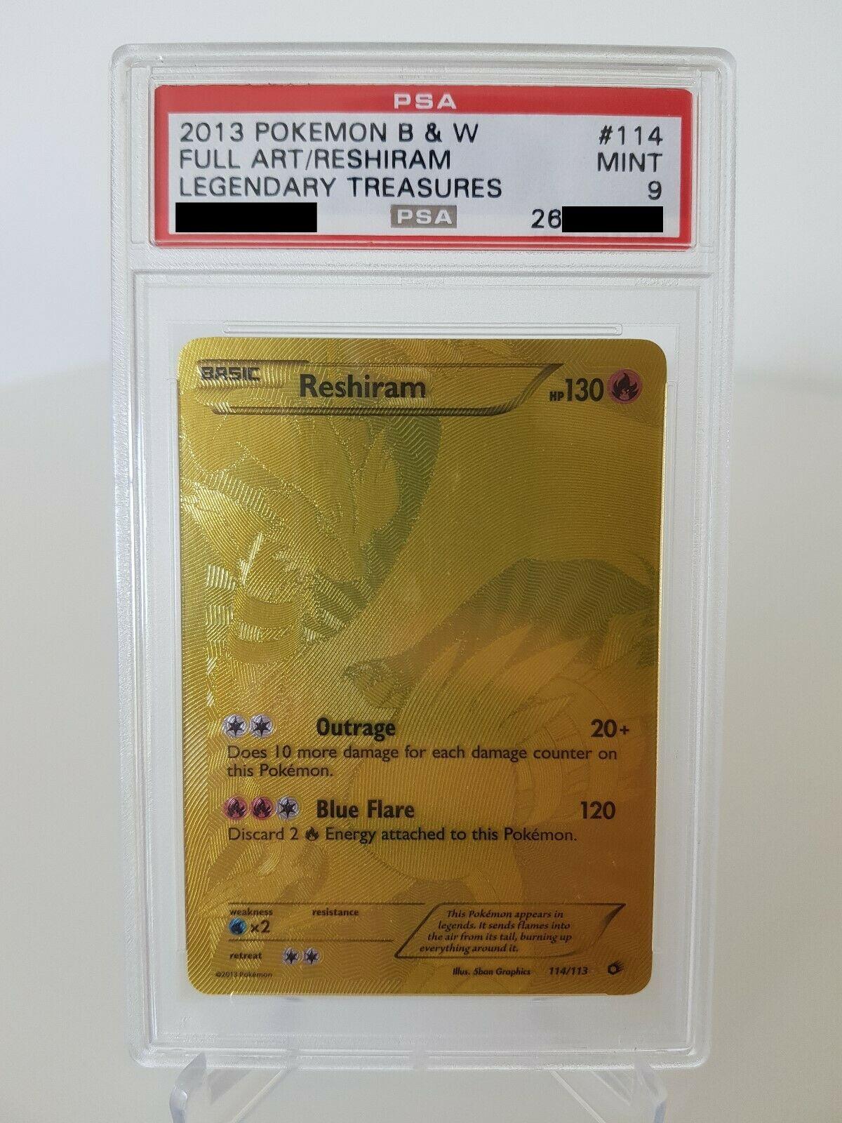 Pokemon Karte Reshiram PSA 9 Mint 114113 BW11 Legendre Schtze Secret Gold