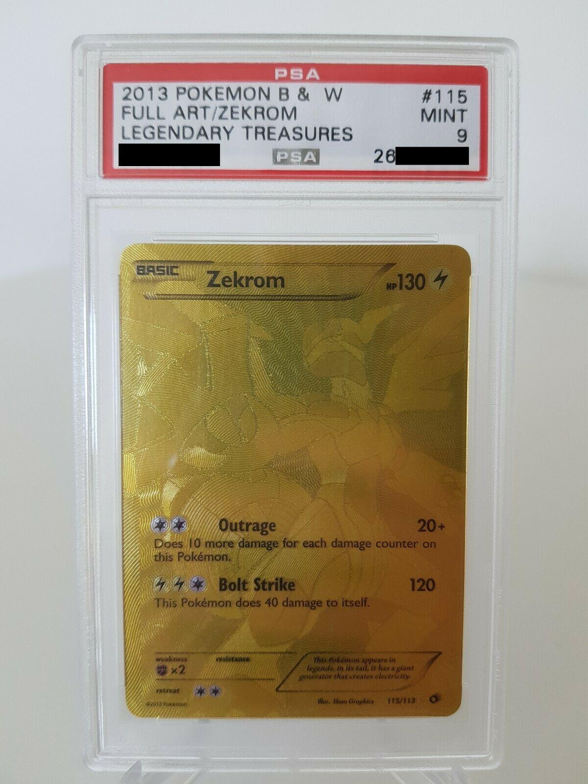 Pokemon Karte Zekrom PSA 9 Mint 115113 BW11 Legendre Schtze Secret Gold
