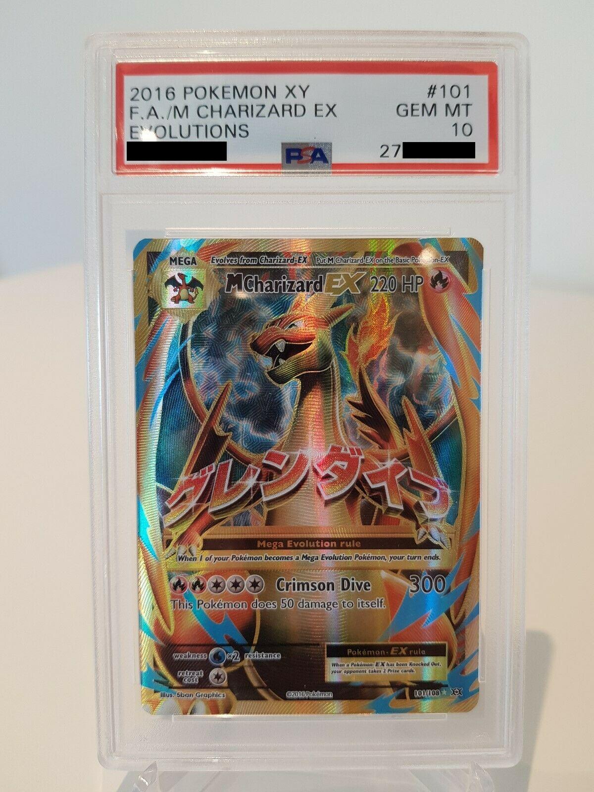 Pokemon Karte M Glurak EX PSA 10 Gem Mint Evolution XY12 101108 Charizard