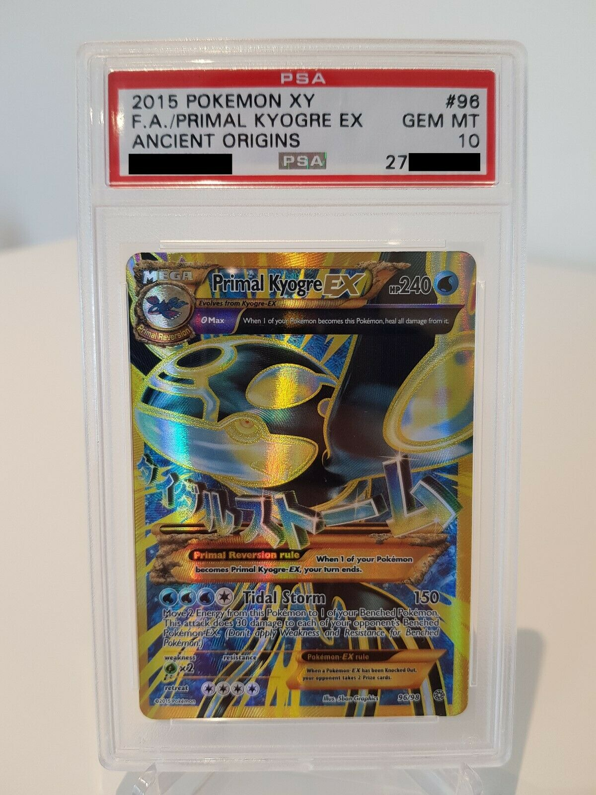Pokemon Karte ProtoKyogre EX PSA 10 Gem Mint Ewiger Anfang XY07 9698 Primal