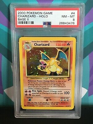 PSA 8 Charizard Base 2 Holo Rare Pokemon Card Base Art Arita NM MT No 6 1st Gen