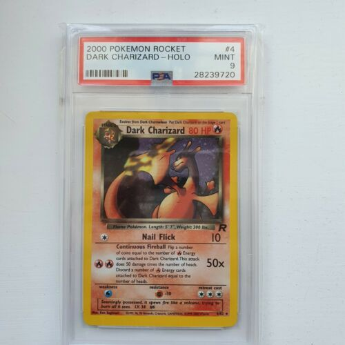 PSA 9 Mint Dark Charizard Holo 482 MINT Team Rocket Pokemon Card 24hour listing