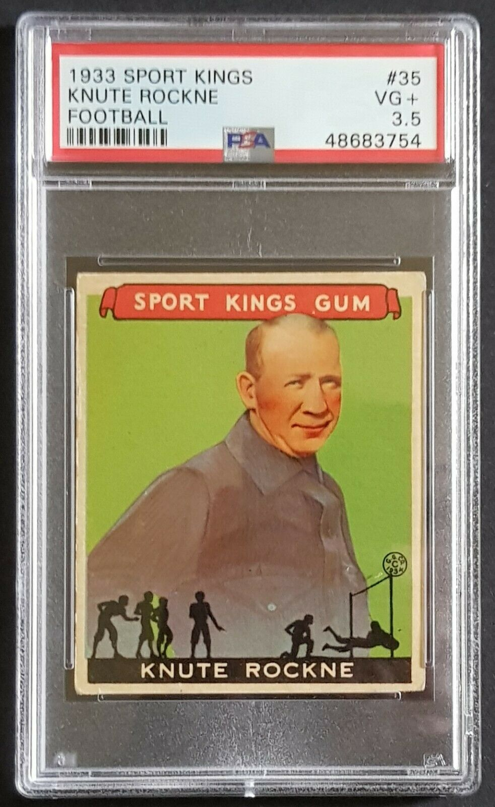 1933 Goudey Sport Kings 35 Knute Rockne football PSA 35 VG