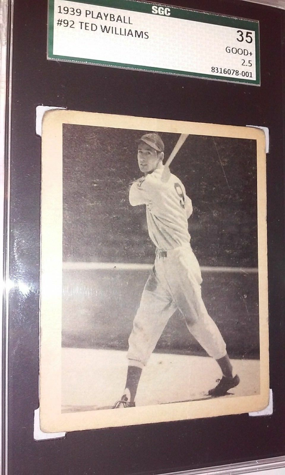 1939 TED WILLIAMS  ROOKIE  SGC 35  25  GOOD PLAYBALL 92