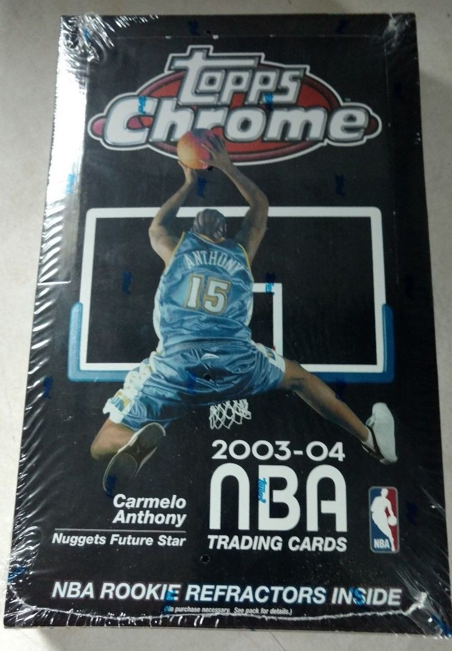 20032004 Topps Chrome NBA Basketball Cards SEALED COUNTER BOX SUPER RARE