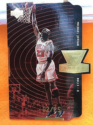 199899 Upper Deck Forces Gold Die Cut Quantum Michael Jordan 0225 SP Rare