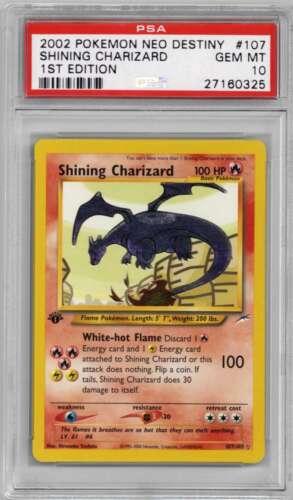 2002 Pokemon Neo Destiny Shining Charizard 1st First Edition 107 Card PSA 10