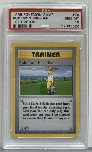 PSA 10 First 1st Edition Pokemon Breeder