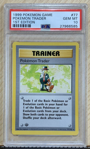 PSA 10 First 1st Edition Pokemon Trader