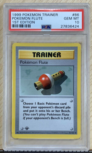 PSA 10 First 1st Edition Pokemon Flute