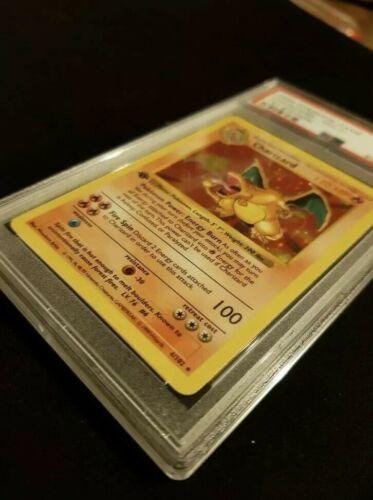 PSA 9 1st Edition Base STRONG Shadowless Charizard Pokemon Game Card