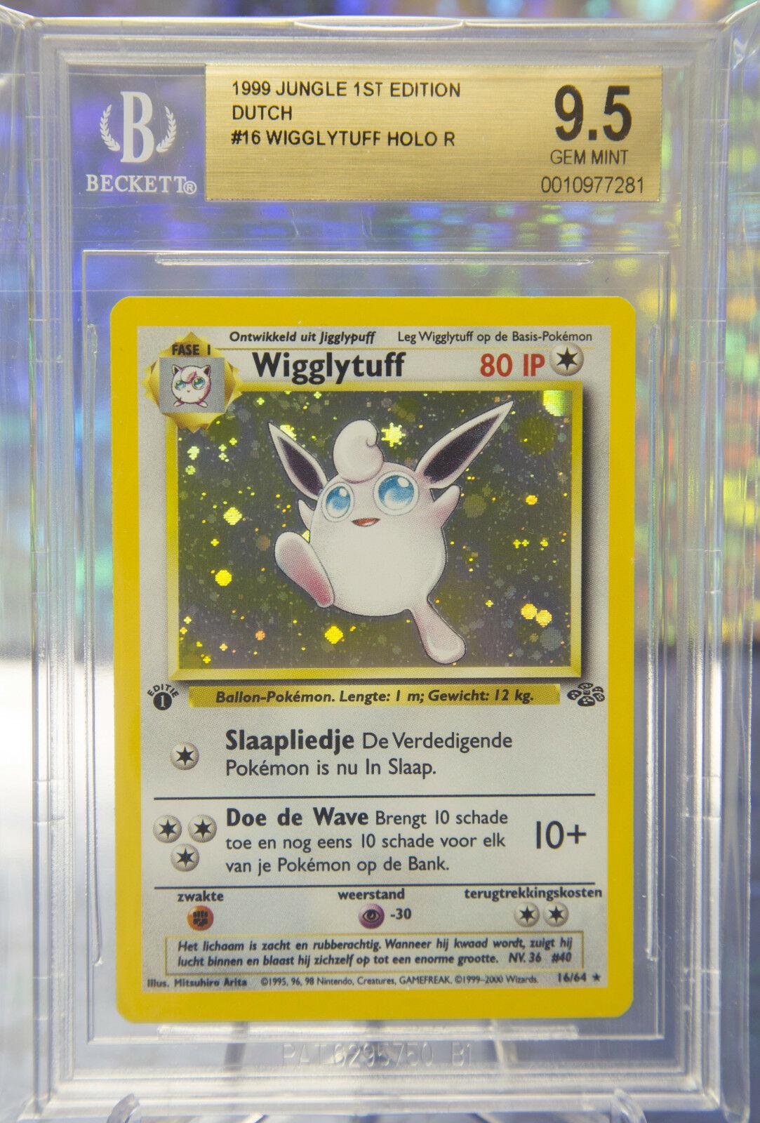 POP 1 DUTCH 1st Edition Wigglytuff Gem Mint 95 Jungle Pokemon Card NL RARE