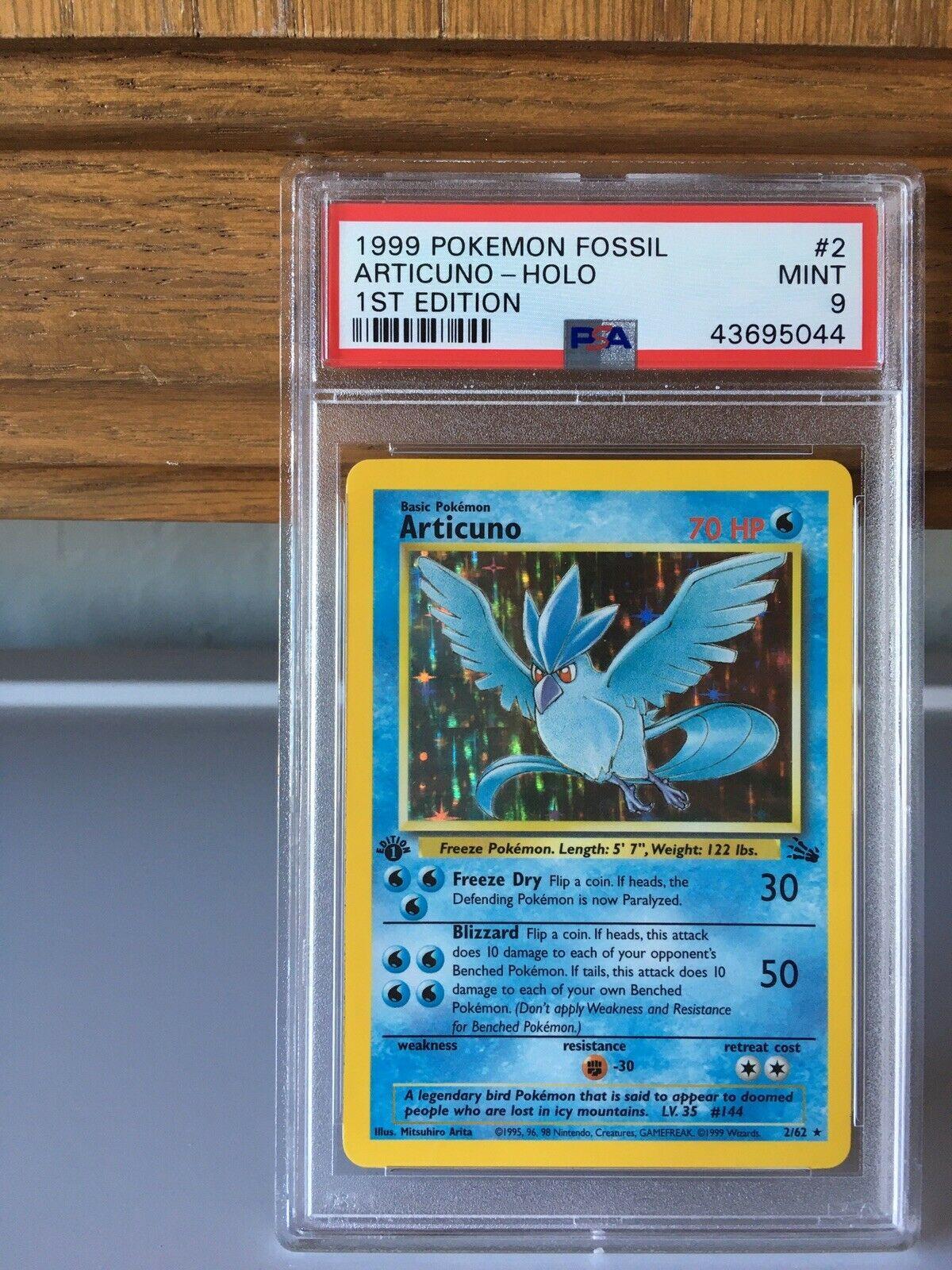 1st Edition Articuno  Holo PSA 9 Rare 1999 WOTC Pokemon Card Fossil