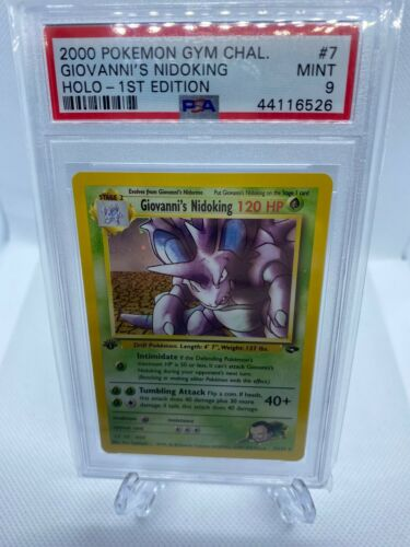 2000 Pokemon Gym Challenge 1st Edition Holo Giovannis Nidoking Psa 9