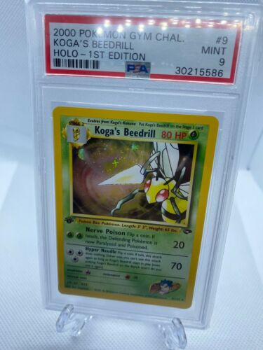 2000 Pokemon Gym Challenge 1st Edition Holo Kogas Beedrill Psa 9 Unusual Holo