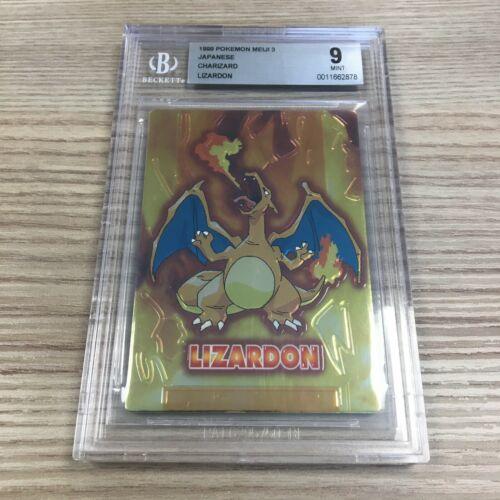 Charizard BGS 9 Pokemon Meiji Embossed Promo 1999 Japanese PSA 9 Holo Rare Mint