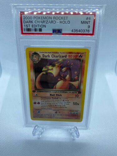2000 Pokemon Rocket 1st Edition Dark Charizard Holo Psa 9 Stunning