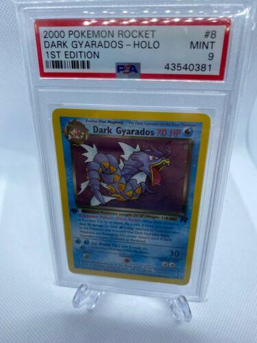 2000 Pokemon Rocket 1st Edition Holo Dark Gyarados Psa 9