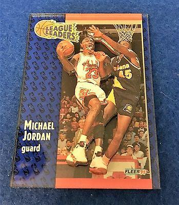 199192 Fleer 3D Acrylic Redemption Michael Jordan League Leaders 220