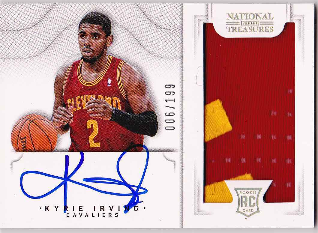 Kyrie Irving 1213 Panini National Treasures Rookie Patch Auto RPA 006199