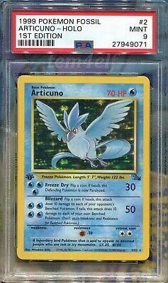 Articuno 262 Holo 1st Edition Fossil PSA 9 MINT Pokemon Card