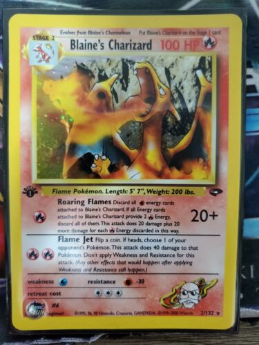 Blaines Charizard Holo  1st Edition  Pokemon Card  2132