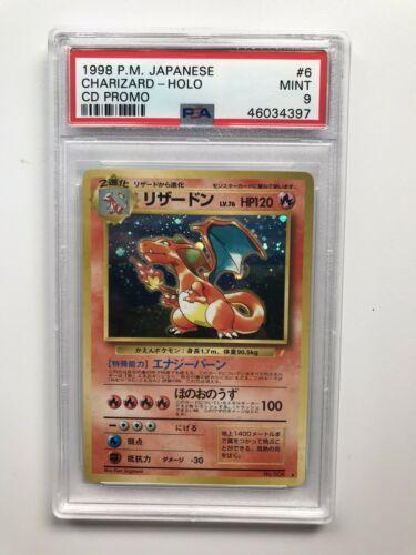 Pokemon Japanese 1998 CD Promo Charizard Holo PSA Mint 9